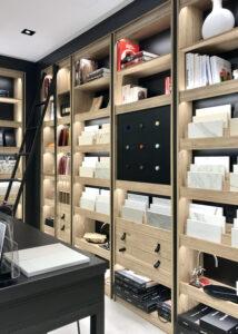 bibliotheek met materialen en stoffen